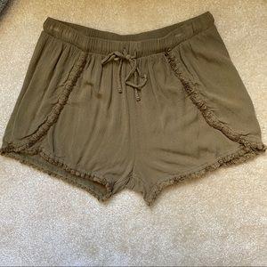 Mossimo Soft Fabric Fringe Shorts
